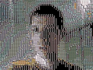 Travis Cox. Still from ELAINE's generated mosaic, 2014. Monitor.