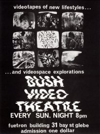 Poster for Bush Video Theatre (1973). From http://scanlines.net/person/bush-video [2]